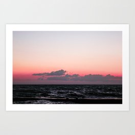 Ocean #sunset Art Print