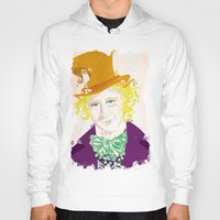 willy wonka Hoodies featuring Wilder Wonka by Joshua A. Biron