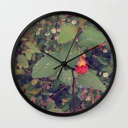 Backyard Flower #3 Wall Clock