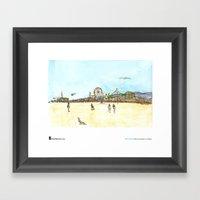 "Shiho Nakaza, ""Beach, Santa Monica"" Framed Art Print"