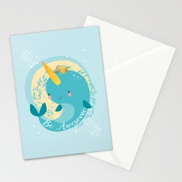 NARWHAL - BE AWESOME! Stationery Cards