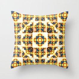 Navajo Cubes Throw Pillow