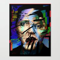 actor Canvas Prints featuring Christopher Walken. Cracked Actor. by brett66