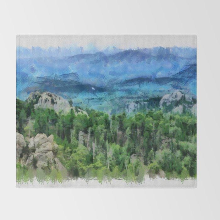 Black Hills Of South Dakota Throw Blanket By So Orex Official Society6