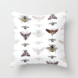 Bug Stripe Throw Pillow