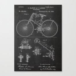 Velocipede Patent Canvas Print