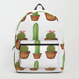 Bright Watercolor Cacti in Pots Backpack