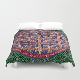 Song for Creativity - Traditional Shipibo Art - Indigenous Ayahuasca Patterns Duvet Cover