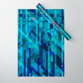 abstract composition in blues Wrapping Paper