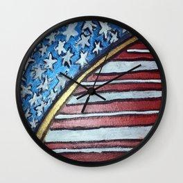 American flag barrel Wall Clock