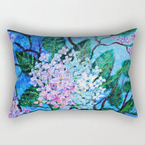 Hydrangea Flowers Rectangular Pillow