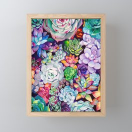 Succulent Garden Framed Mini Art Print