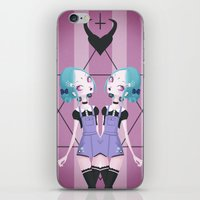 goth iPhone & iPod Skins featuring Pastel Goth by Paz Huichaman