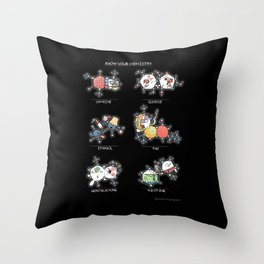 Know Your Chemistry Throw Pillow
