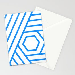 Geometric concentric lines Stationery Cards