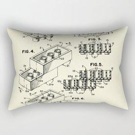 Lego Toy Building Brick-1961 Rectangular Pillow
