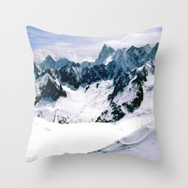 Chamonix Aiguille du Midi French Alps France Throw Pillow