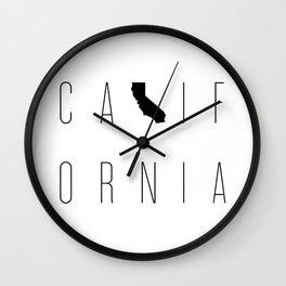 California Minimalist Typograpy Wall Clock