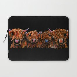 HiGHLaND CoW PRiNT SCoTTiSH ' THe GiNGeR NuTS ' BY SHiRLeY MacARTHuR Laptop Sleeve