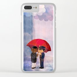 Love Trumps Hate #1 Clear iPhone Case