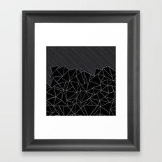 Ab Lines 45 Grey and Black Framed Art Print