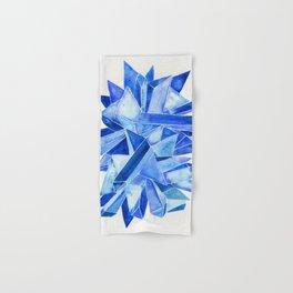 Sapphire Watercolor Facets Hand & Bath Towel