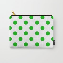 POLKA DOT DESIGN (GREEN-WHITE) Carry-All Pouch