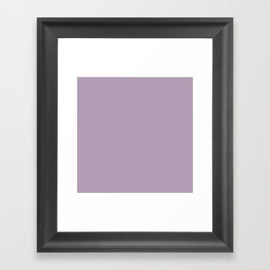 Dark Chalky Pastel Purple Solid Color by podartist