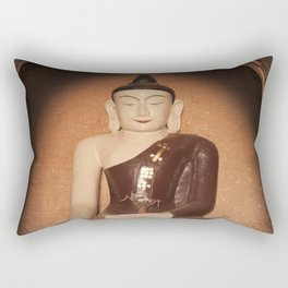 Buddha in Bagan Rectangular Pillow