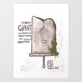 +2 Broken GIANT Stone Greatsword Art Print