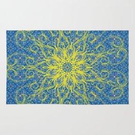 sunburst blue Rug