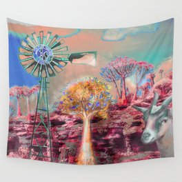 Wind Punk Quiver Heat Wall Tapestry