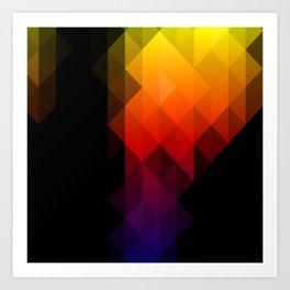 Rainbow Delight Art Print