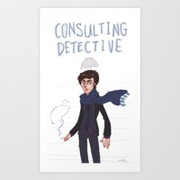 consulting detective Art Print