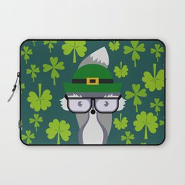 St. Patrick's Day decor with cute little fox Laptop Sleeve