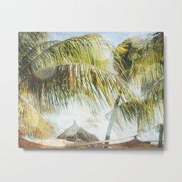 Cabana Beach Metal Print