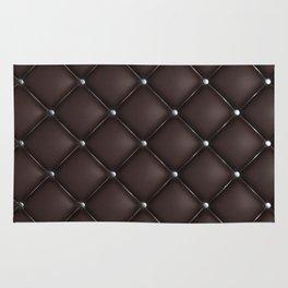 Dark quilted texture Rug