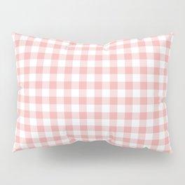 Lush Blush Pink and White Gingham Check Pillow Sham