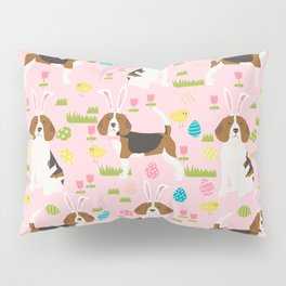Beagle easter spring bunny eggs dog breed gifts for pure breed pet lover beagles Pillow Sham