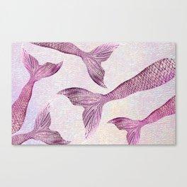 Smoldering Pink Mermaid Tails Canvas Print