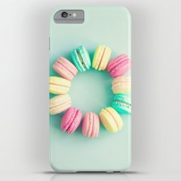 Macarons, macaroons circle, pop art iPhone Case
