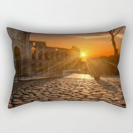 Italy Photography - Sunset Over Ancient Buildings In Rome Rectangular Pillow