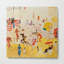 African American Masterpiece 'Summertime, Asbury Park, South' by Florine Stettheimer Metal Print