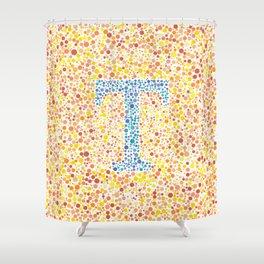 """""""T"""" Eye Test Full Shower Curtain"""