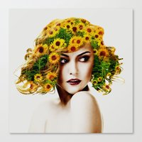 sunflowers Canvas Prints featuring Sunflowers by EclipseLio