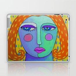 Rain Funky Abstract Digital Painting of a Woman Laptop & iPad Skin