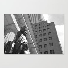 Statue/New York/President/Wall Street Canvas Print