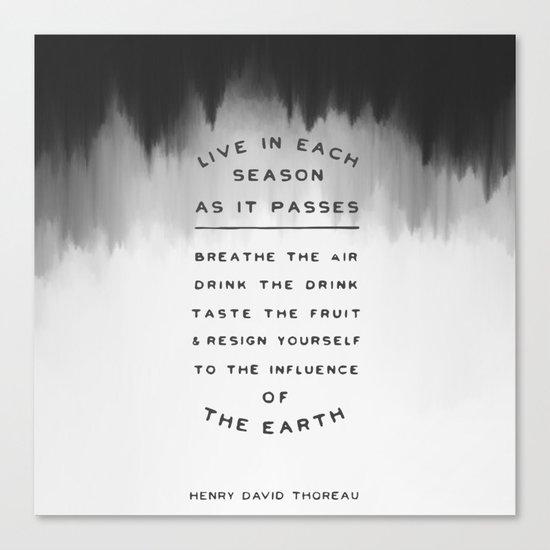 Live in each season Canvas Print