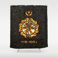 shiva Shower Curtains featuring Shiva  by Khana's Web