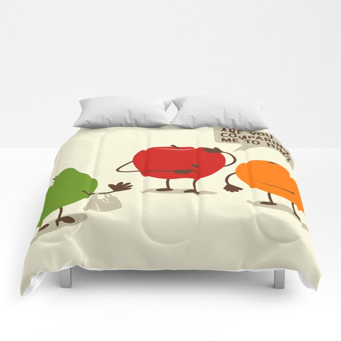 Like Apples and Oranges Comforters